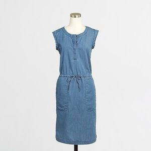 NWT J. Crew Drapey Chambray Dress